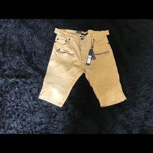 Other - Men's Wheat & Black SideTape Shorts